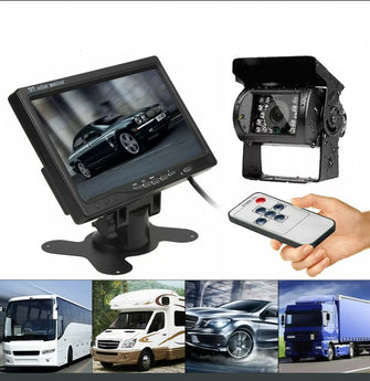 Dual Wired Truck Heavy Duty Rear View Camera with Monitor-Car Dealzz
