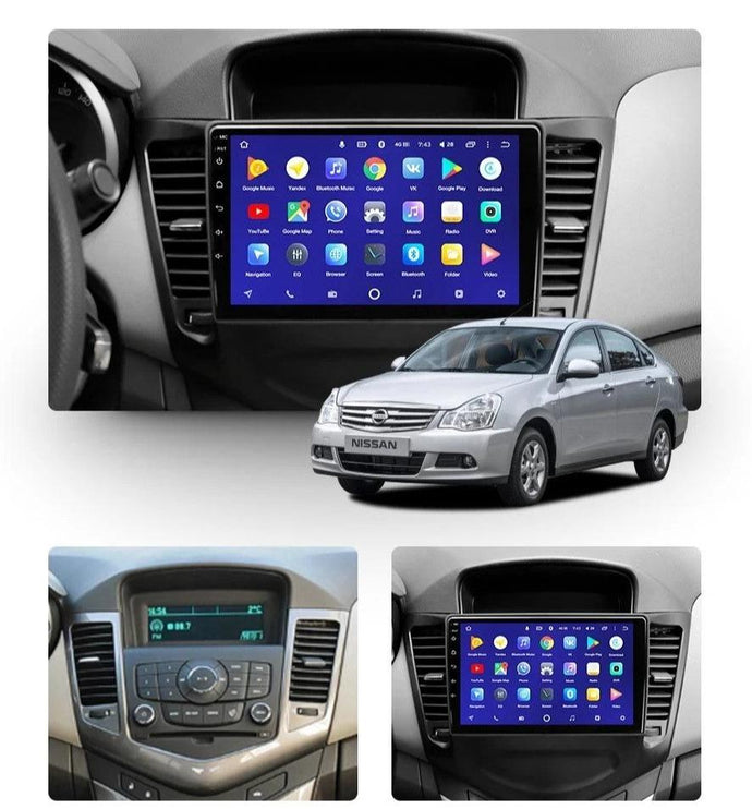 Car Dealz 10.2' Android 8.1 Chevrolet Holden Cruze J300 2009-2014 GPS Bluetooth Car Player Navigation Radio Stereo DVD Head Unit In Dash Plus OEM Fascia - Car Dealzz