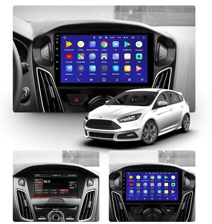Car Dealz 10.2 Android 8.1 Ford Focus 3 Mk 3 2010-2018 GPS Bluetooth Car Player Navigation Radio Stereo DVD Head Unit In Dash Plus OEM Fascia - Car Dealzz