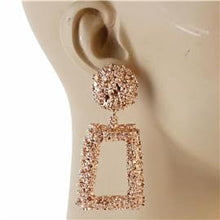 Load image into Gallery viewer, Metal Hammered Rectangle Earrings