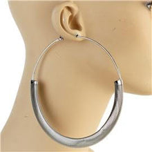Load image into Gallery viewer, 120mm Metal Hoop Earrings