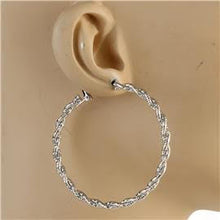 Load image into Gallery viewer, 60mm Metal Braided Earrings
