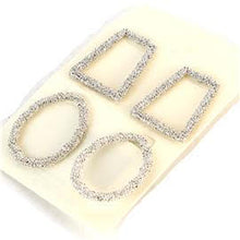 Load image into Gallery viewer, Metal Geometric 2 Pcs Earrings