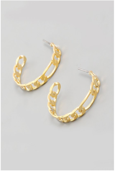 Small Chain Link Hoop Earrings