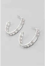 Load image into Gallery viewer, Small Chain Link Hoop Earrings