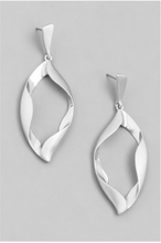 Load image into Gallery viewer, Hanging Twisted Metal Teardrop Earrings