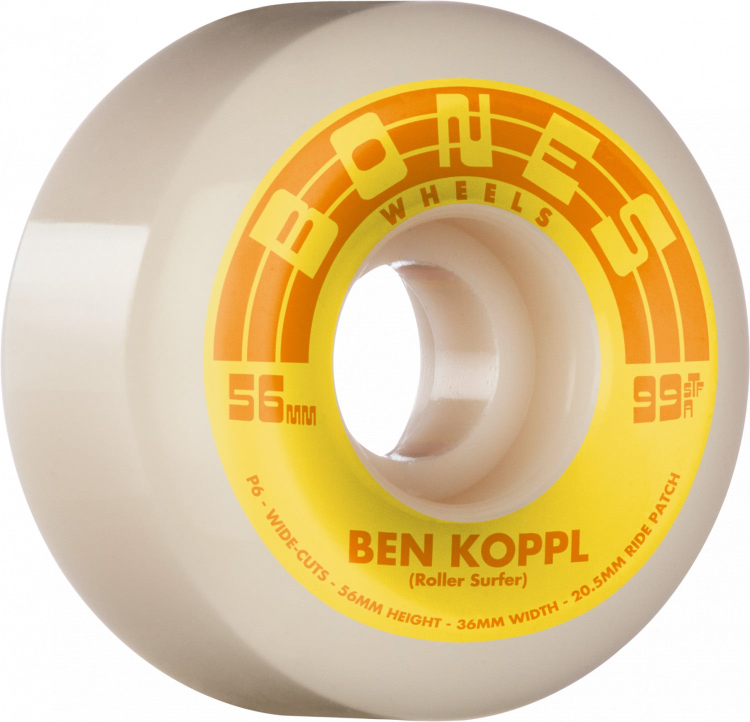 Bones Wheels Ben Koppl Rollersurfer 56mm Widecut 99a
