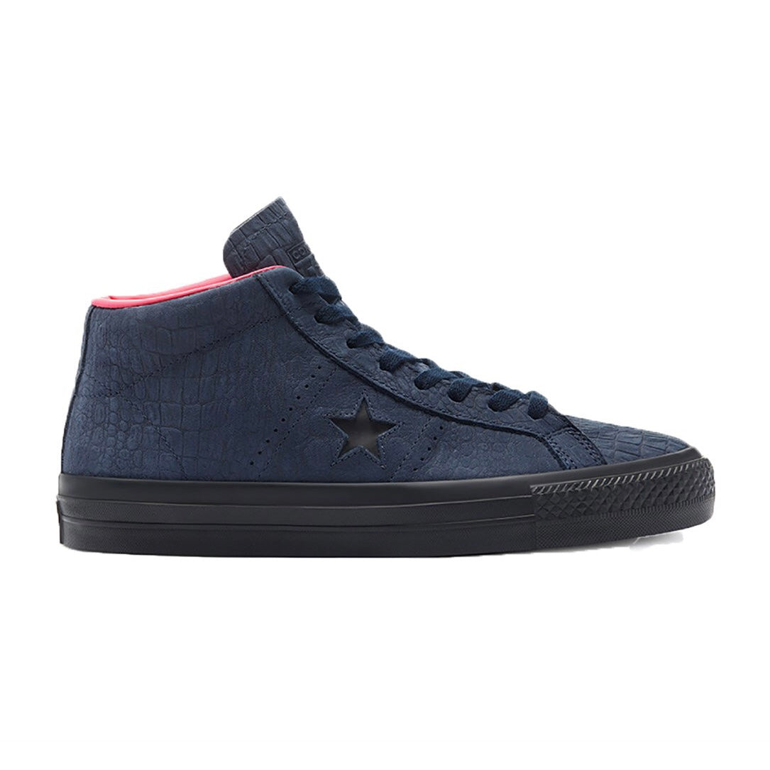 Converse One Star Pro Mid - Obsidian / Hyperpink / Black