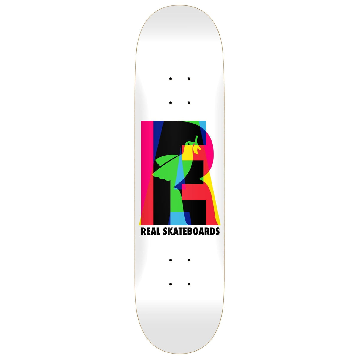 Real Elipsing Skateboard Deck (WHITE)