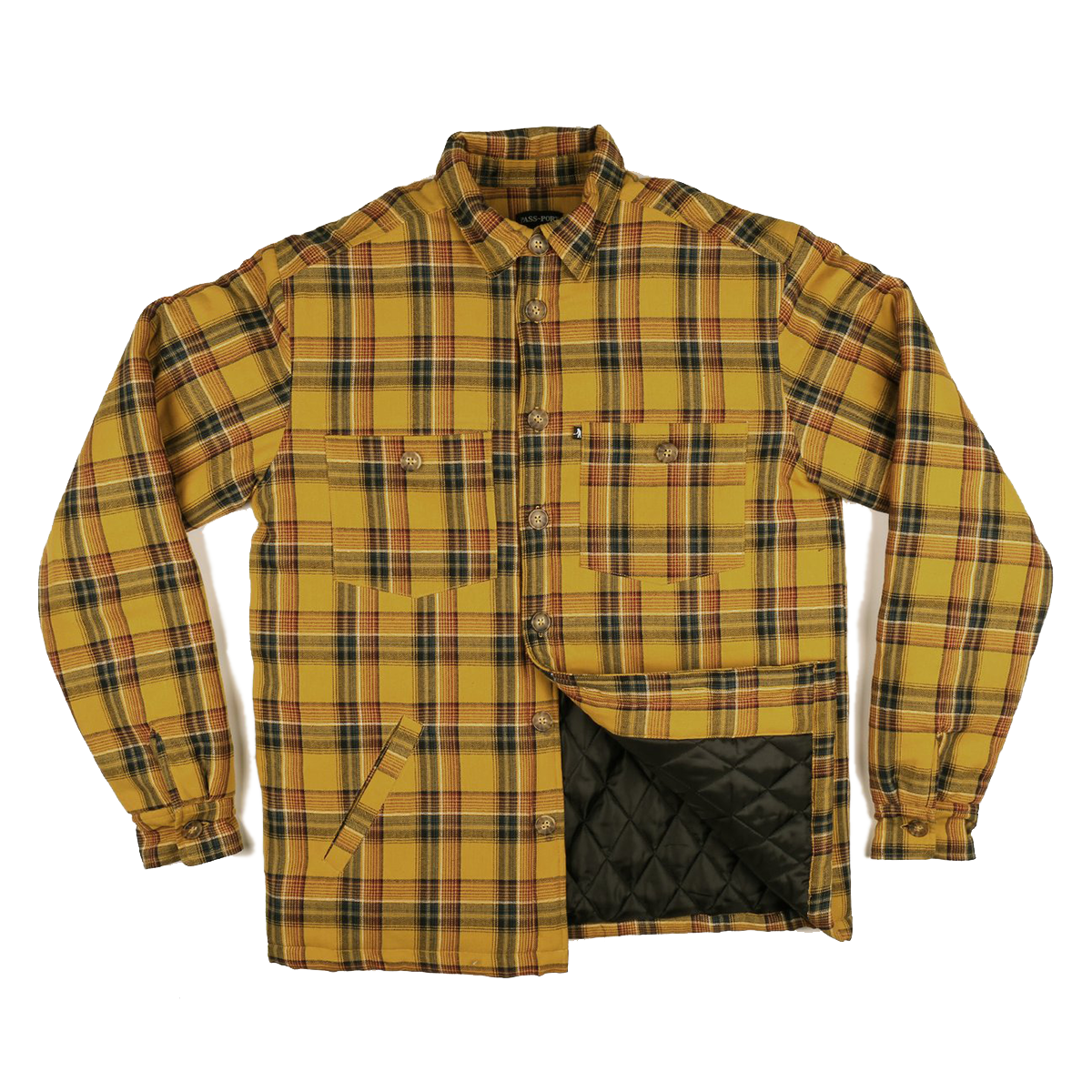 Passport Late Quilted Flannel Jacket - Mustard