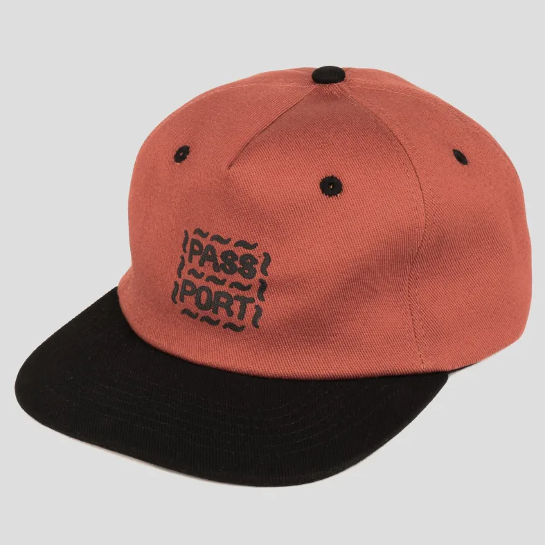 Passport Messy Logo Cap Rust/Black