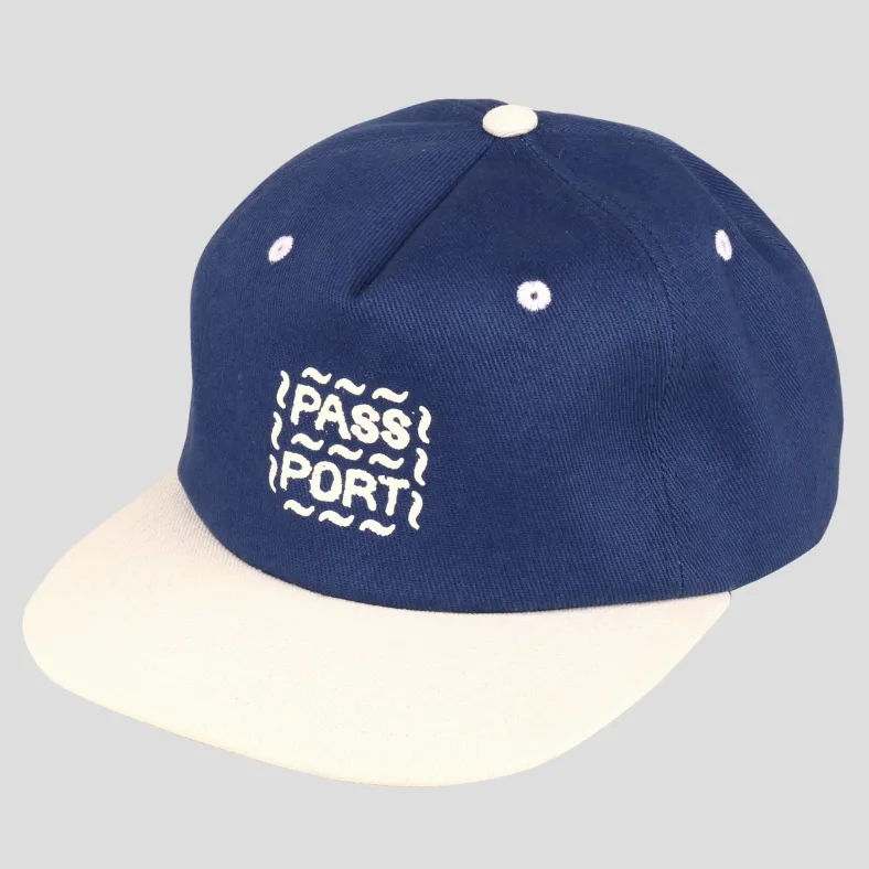 Passport Messy Logo Cap French Navy/Natural