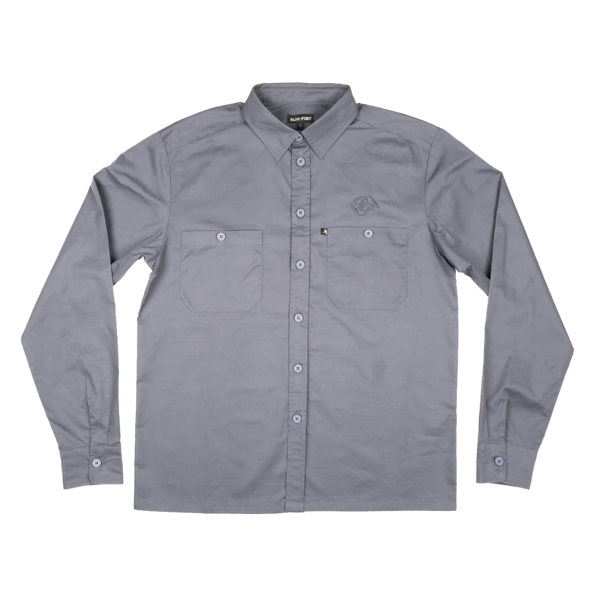 Passport Workers Long-sleeve Shirt - Grey