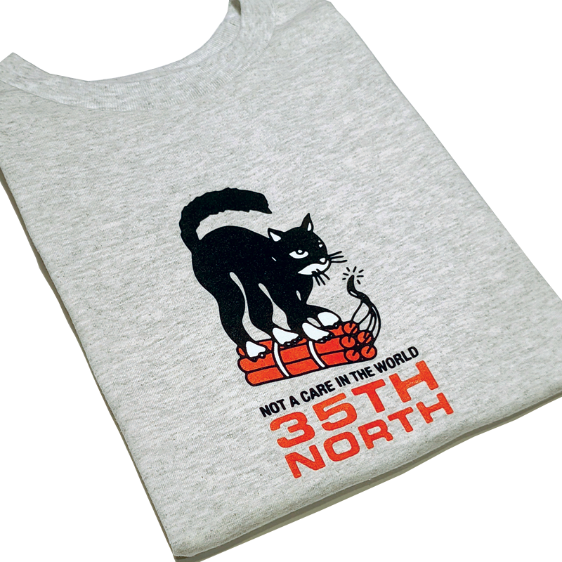 "35th North ""Not A Care"" T-Shirt - Ash"