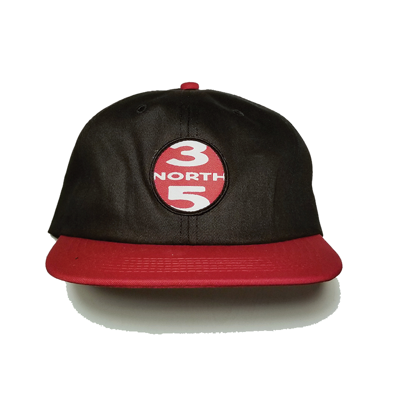 35th North Roundabout Snapback Hat - Black