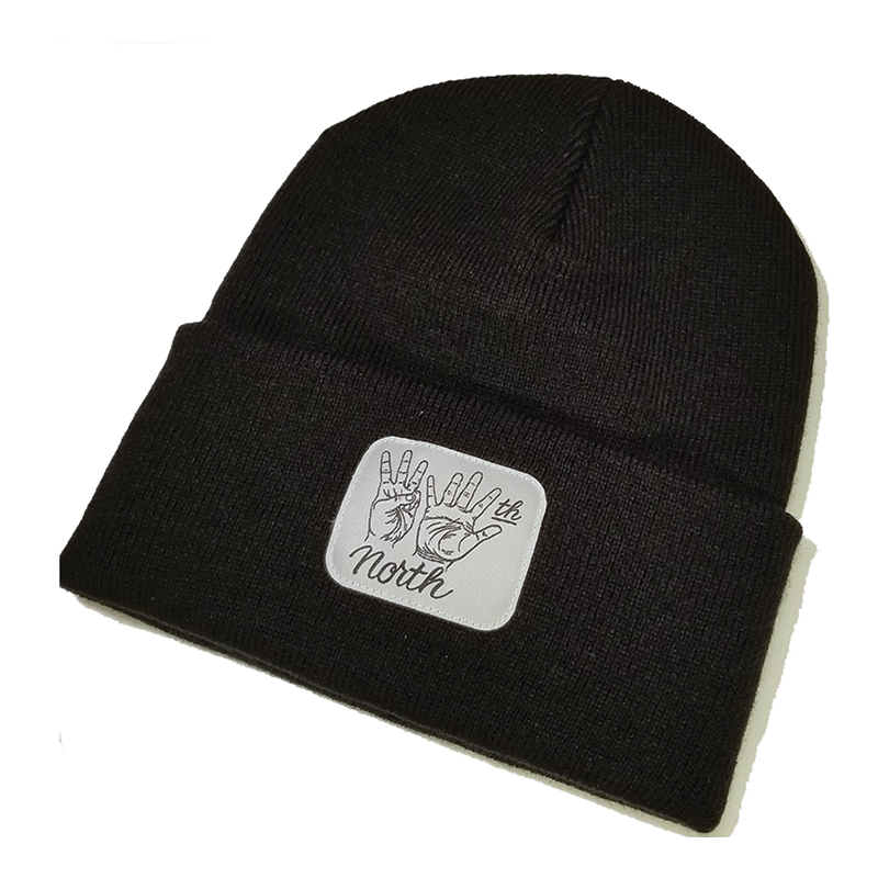 35th North Hand Signs Folded Beanie - Black