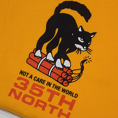 "35th North ""Not A Care"" T-Shirt - Gold"