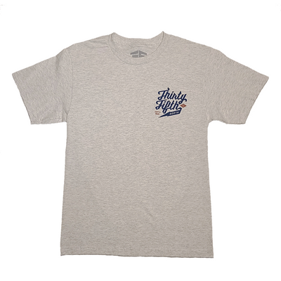 35th North Barr Logo T-Shirt Light Ash/Navy
