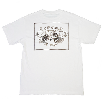 35th North Gonz Pine St Bombers T-Shirt - White