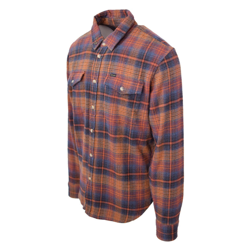 Dark Seas Lakeview Flannel - Rust