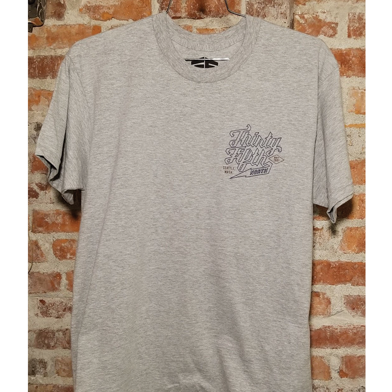 35th North Barr Outline T-Shirt - Heather Grey