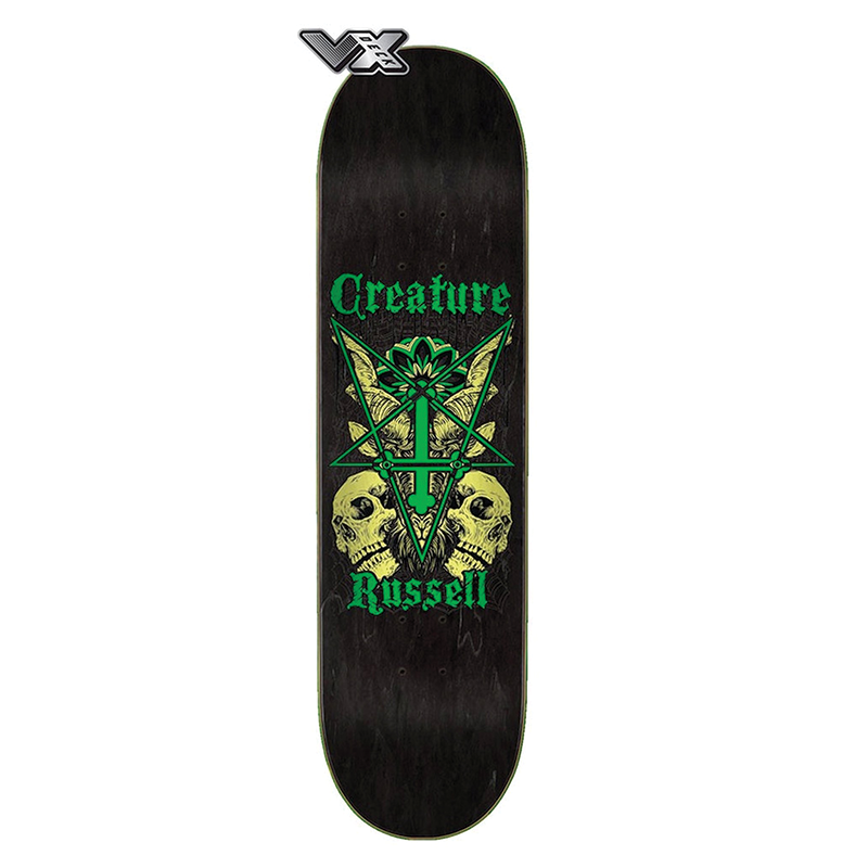 Creature Russell Coat of Arms VX Skateboard Deck size 8.6