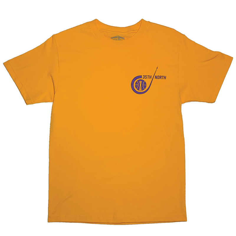 35th North Sonic T-Shirt - Gold / Purple