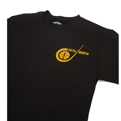35th North Sonic T-Shirt - Black / Mustard