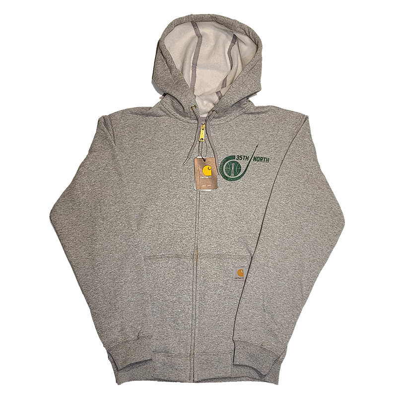 35th North Sonic Grey Carhartt Hooded Zip Up Sweatshirt