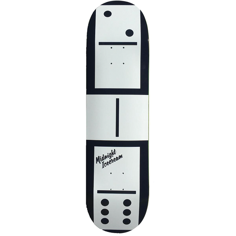 Midnight Ice Cream Domino Skateboard Deck size 8.75