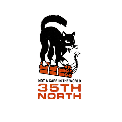 "35th North ""Not A Care"" T-Shirt - White"