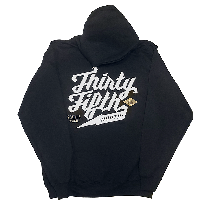 35th North Barr Logo Hooded Sweatshirt Black