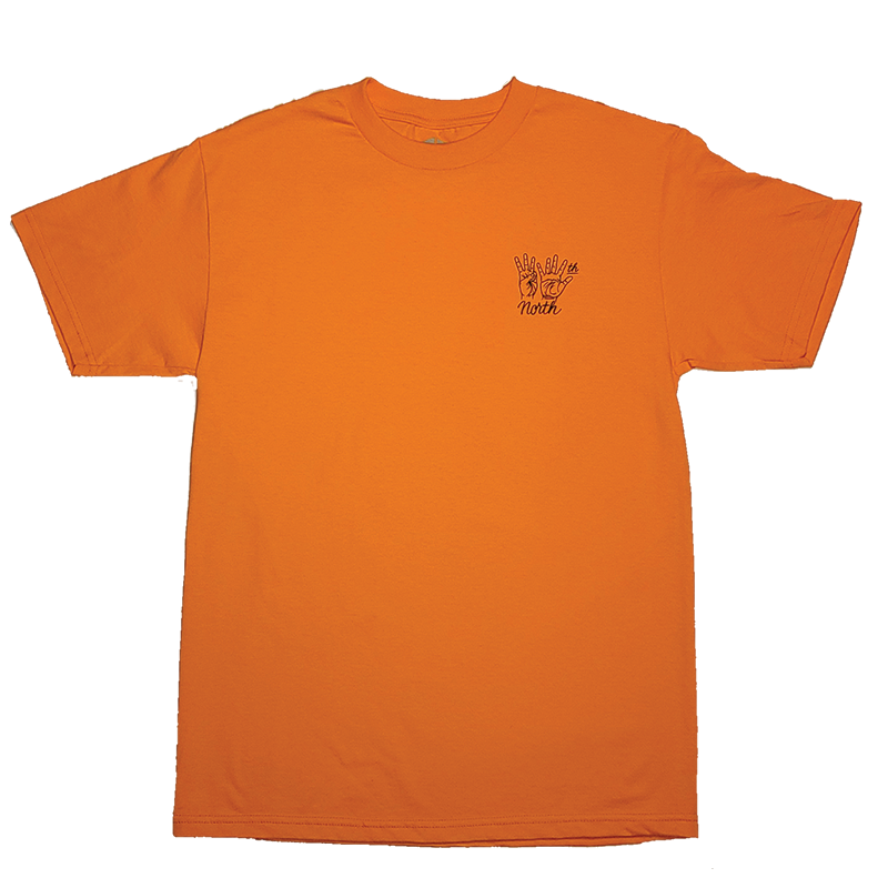 35th North Hand Signs T-Shirt - Orange / Black
