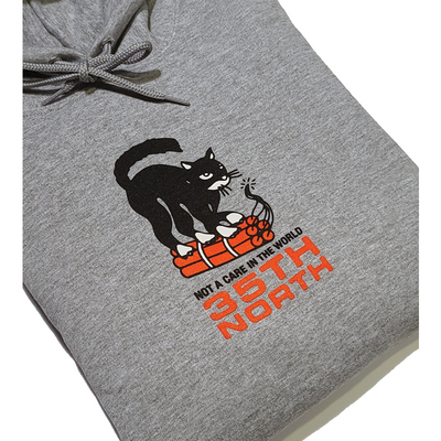 "35th North ""Not A Care"" Pullover Sweatshirt - Grey"