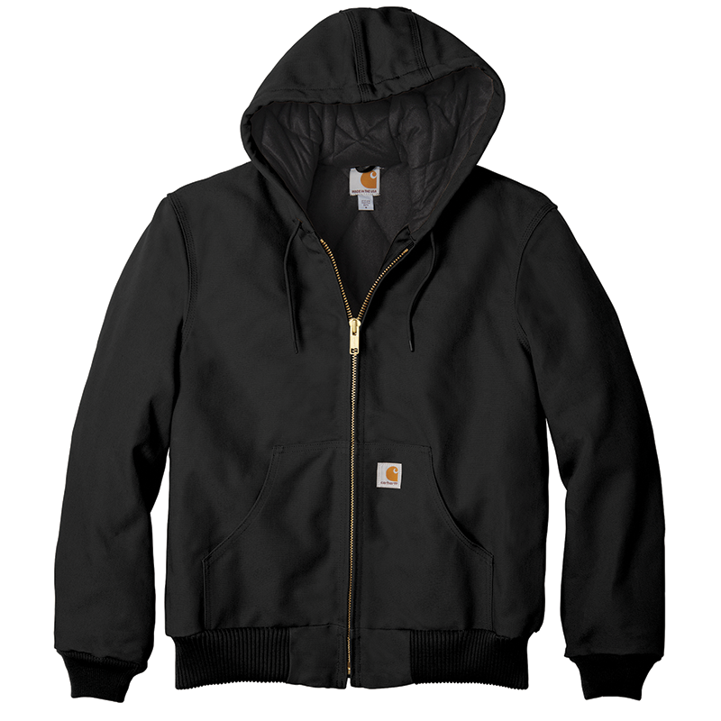 Carhartt Quilt Lined Duck Active Jacket - Black