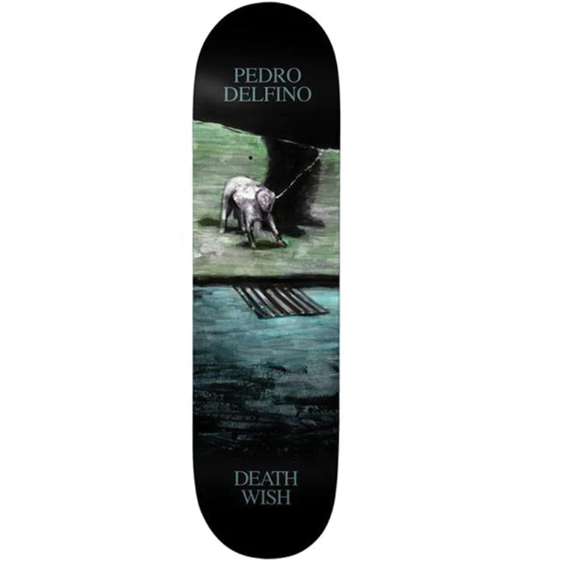Deathwish Pedro Delfino Dro With Dog Skateboard Deck size 8.25