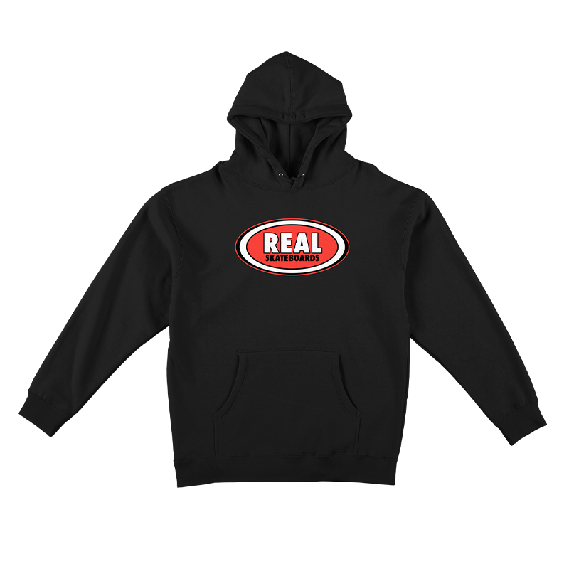 Real Skateboards Oval Pullover Hoodie Black