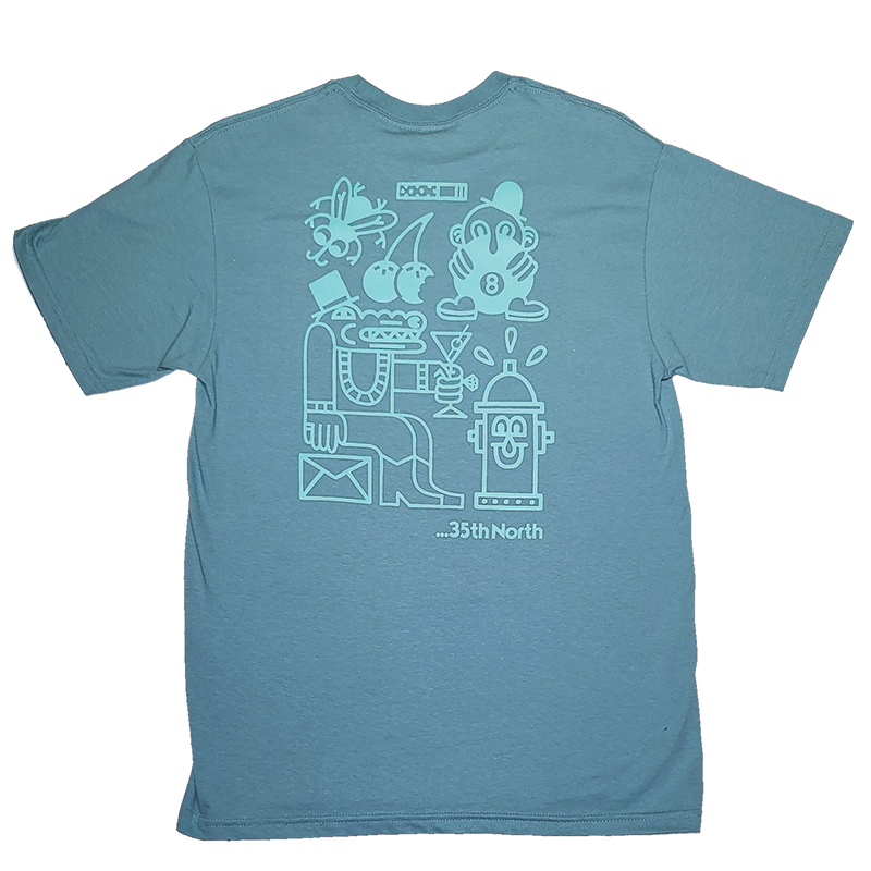 35th North Party T-Shirt - Seafoam / Teal