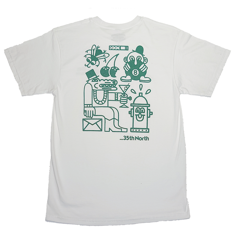35th North Party T-Shirt - White / Green