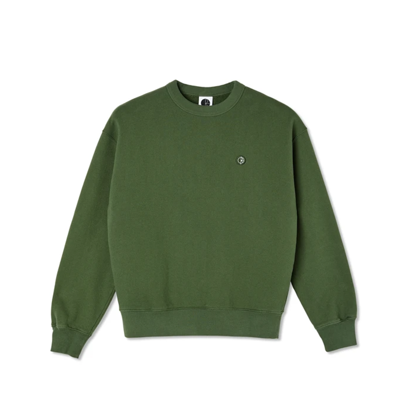 Polar Skate Co. Patch Crewneck - Hunter Green