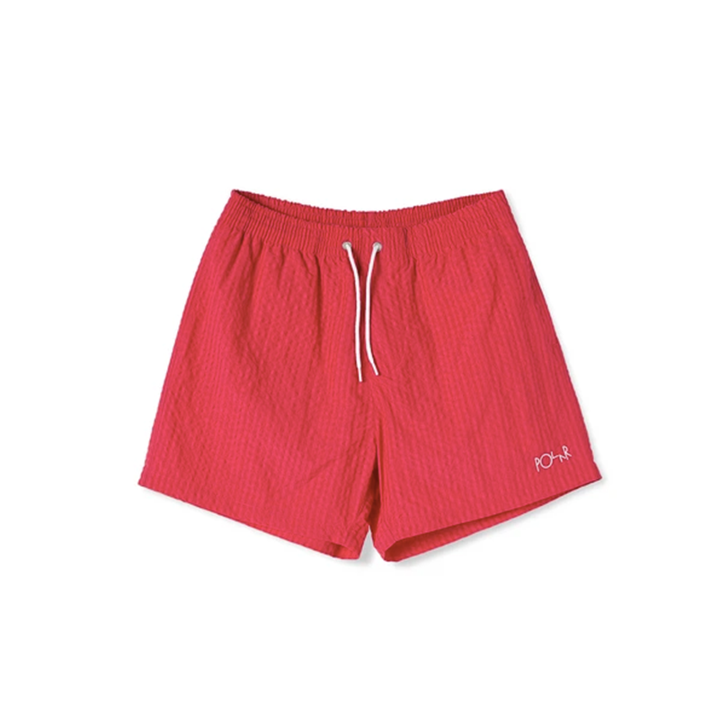 Polar Skate Co. Seersucker Swim Shorts Berry