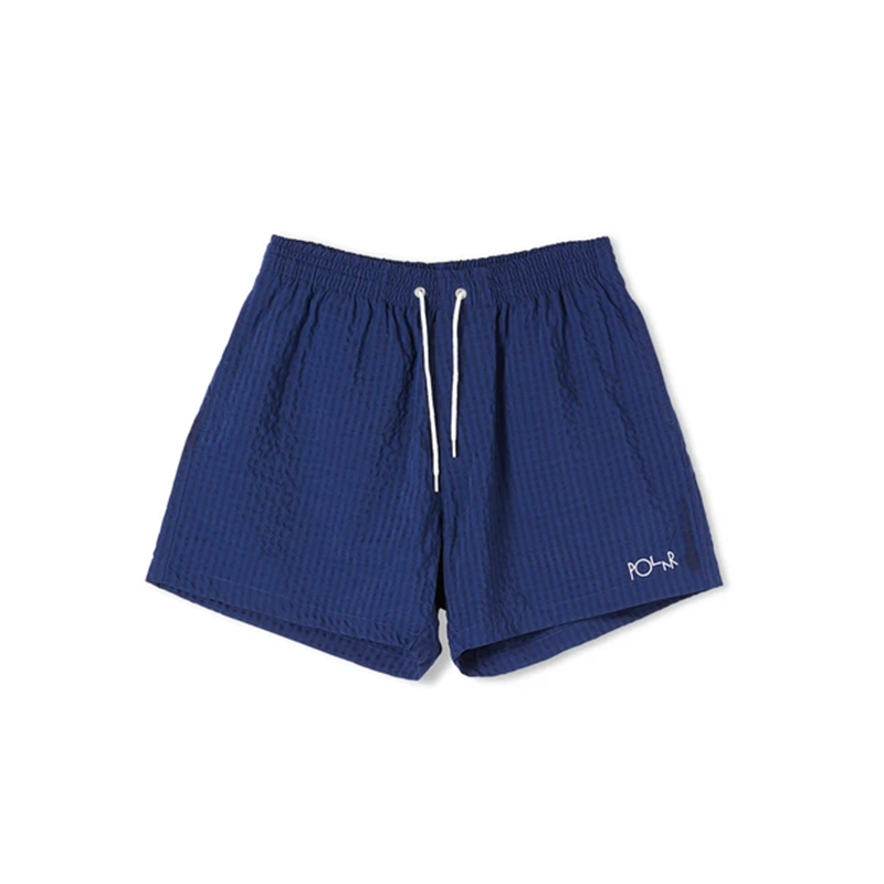 Polar Skate Co. Seersucker Swim Shorts Blue
