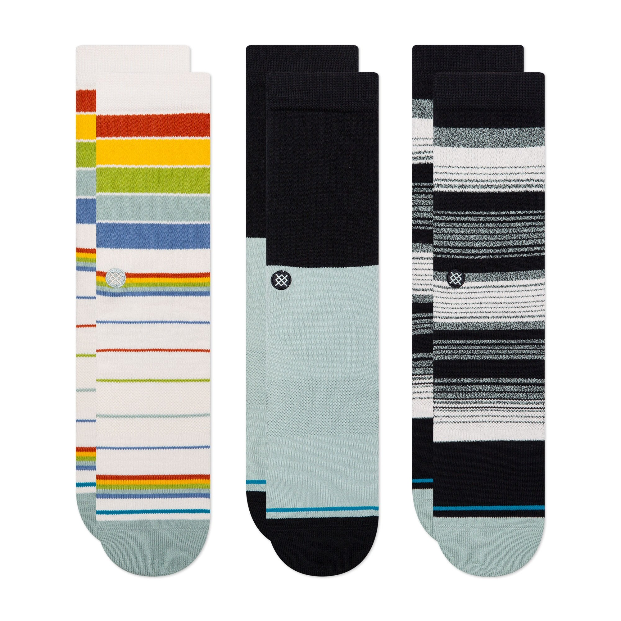 Stance Bad Water Crew 3-Pack Socks- Multi