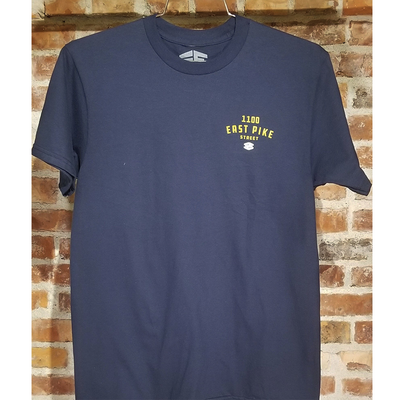 35th North 1100 East Pike Street T-Shirt Navy