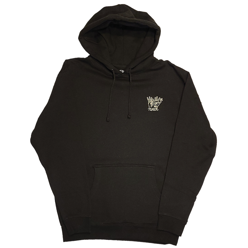 35th North Hand Signs Black Hooded Sweatshirt