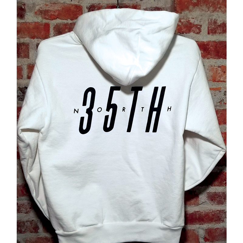 35th North Sam Logo Premium Hooded Sweatshirt - White