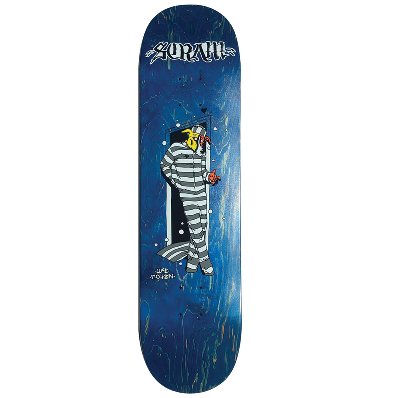 Scram Jail Dog Skateboard Deck size 8.25