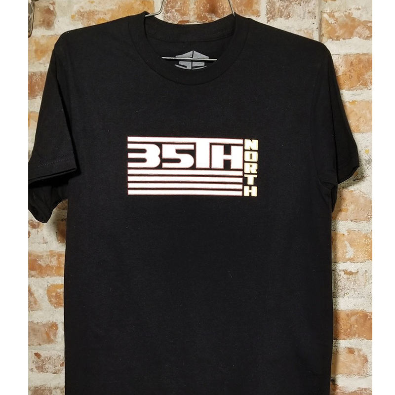 35th North 92 T-Shirt - Black/White/Orange