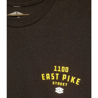 35th North 1100 East Pike Street T-Shirt Black