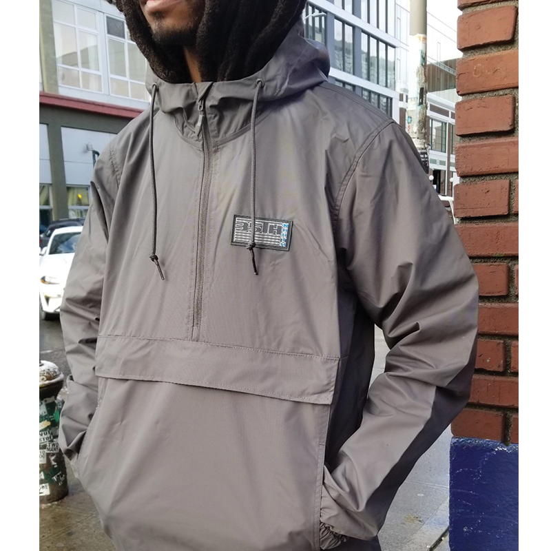 35th North Pullover Hooded Anorak Jacket - Grey